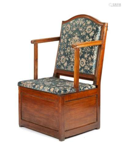 A French Provincial Walnut Metamorphic Bed Chair Height