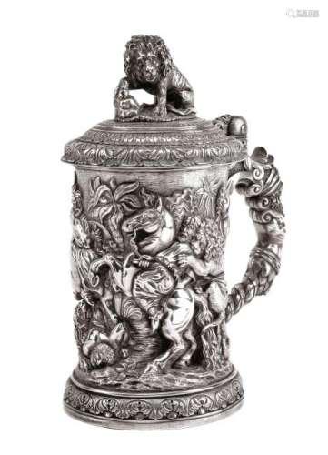 A Victorian Silver-Plate Tankard, Elkington & Co.,