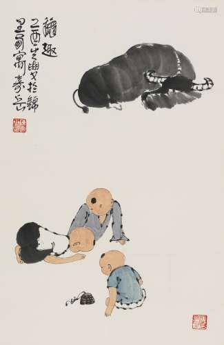 2005年作 陈寿岳 秋趣 镜心 纸本