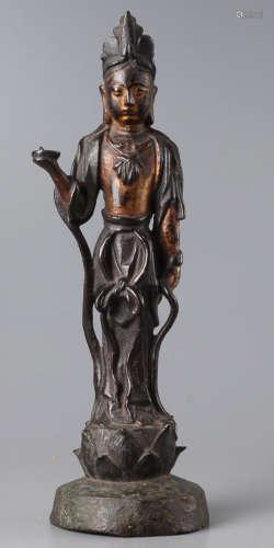 A-10 鎏金菩萨佛像