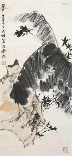 郭味蕖 花鸟 纸本立轴