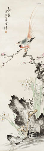 王雪涛 长寿图 纸本立轴