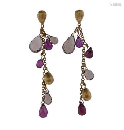 Marco Bicego Acapulco 18K Gold Multi Stone Drop