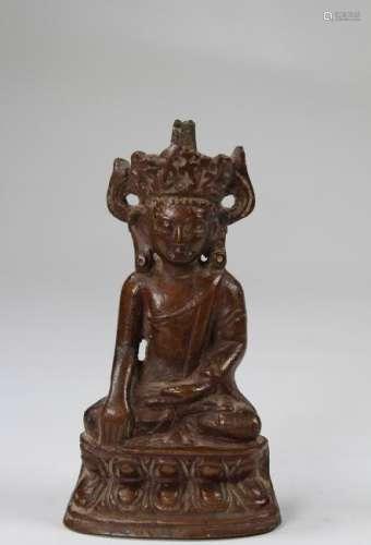 Yuan Dynasty, Chinese Bronze Akshobhya