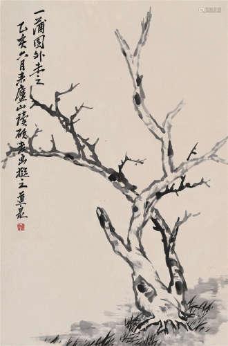 1935 钟道泉 枯树 水墨纸本 立轴