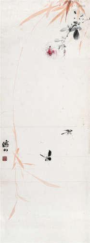 杨济川 香远益清 设色纸本 立轴