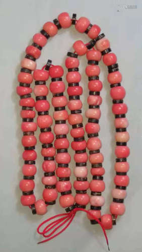 舊珊瑚珠串