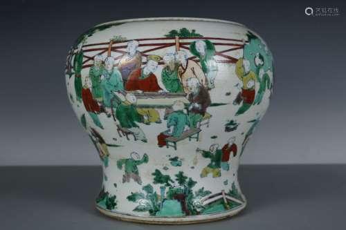 A Doucai Porcelain Pot