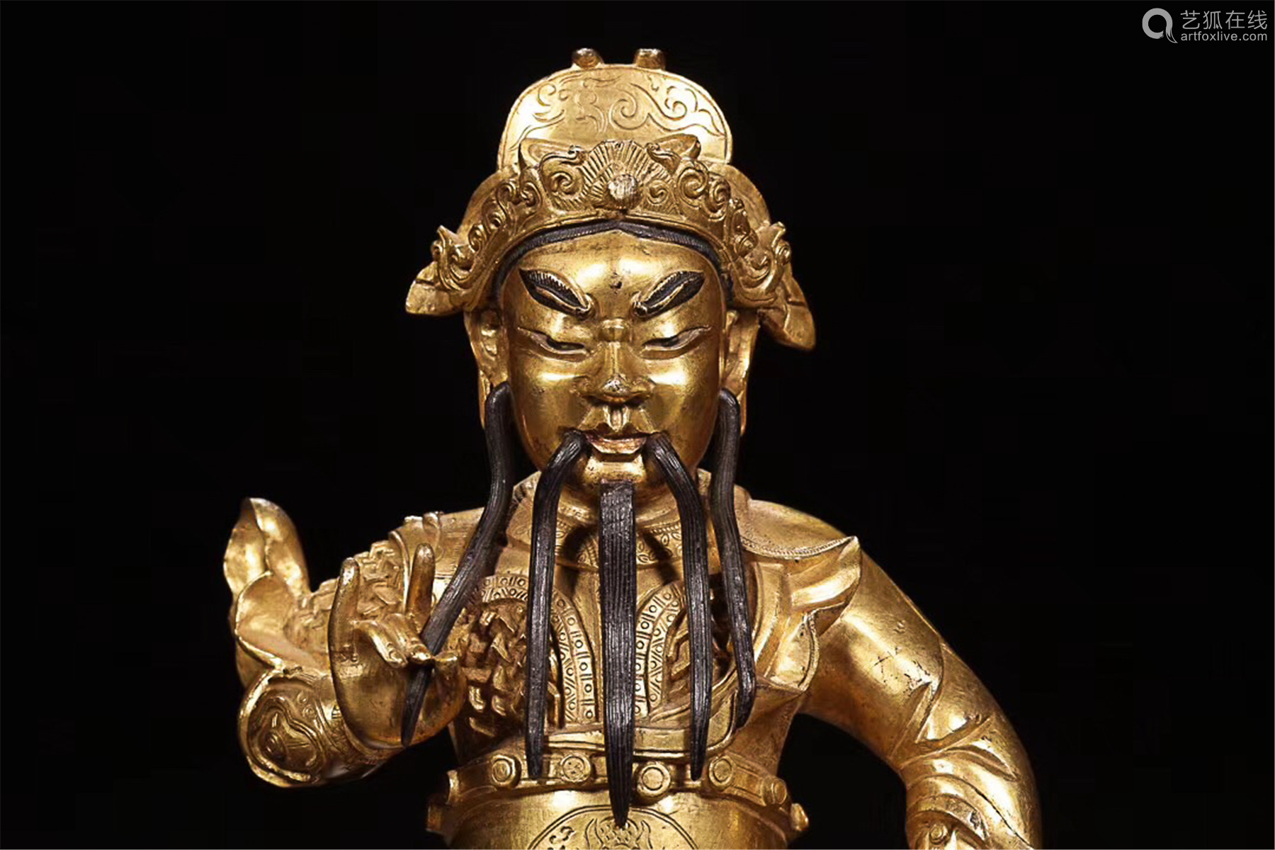 17-19TH CENTURY, A GILT BRONZE KING OF