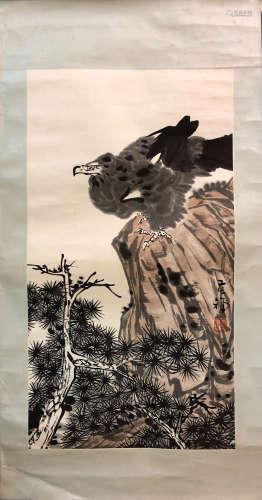 KUCHAN LI <PINE TREE & MOUNTAIN EAGLE> PAINTING