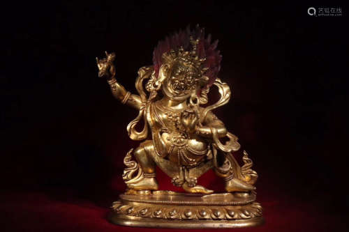 17-19TH CENTURY, AN OLD VAJRA DHARMA STATUE