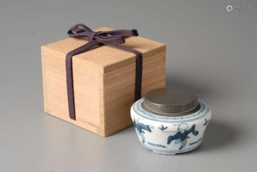 2-A18 青瓷锡口茶叶罐