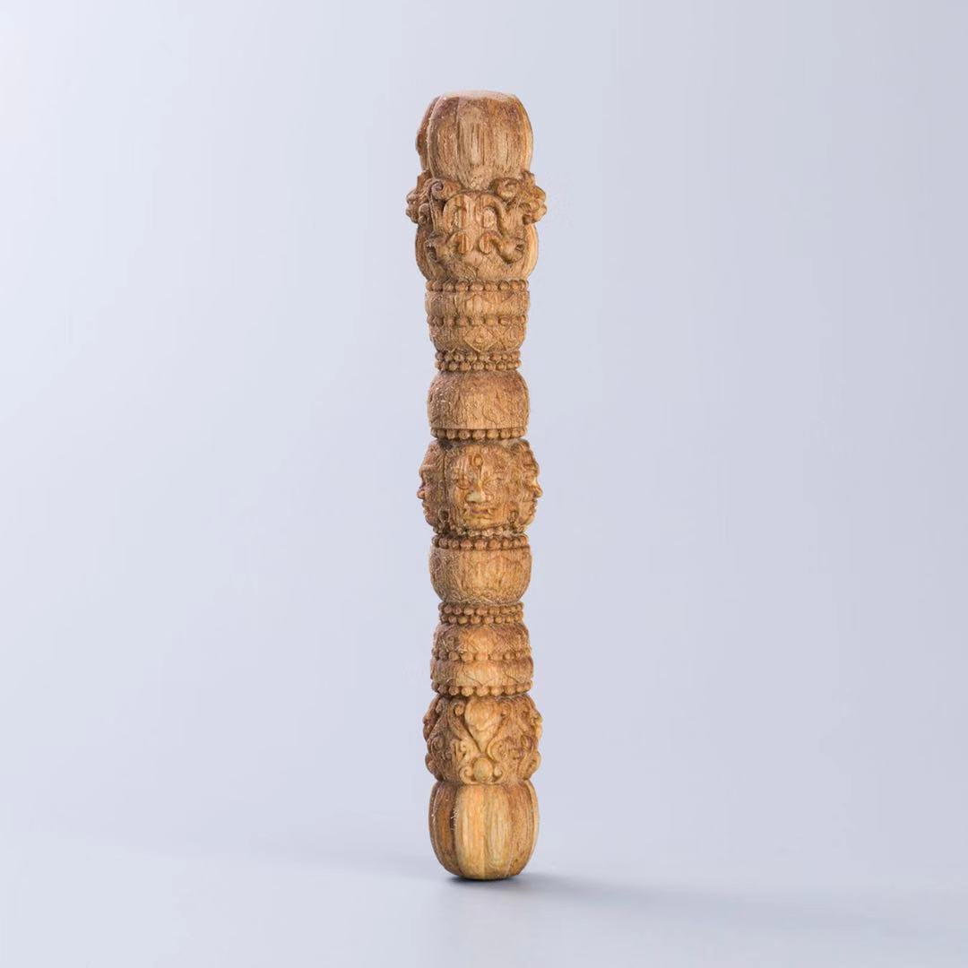 沉香木雕金刚杵