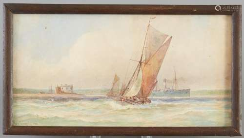 George Gregory Marine Ship Watercolor