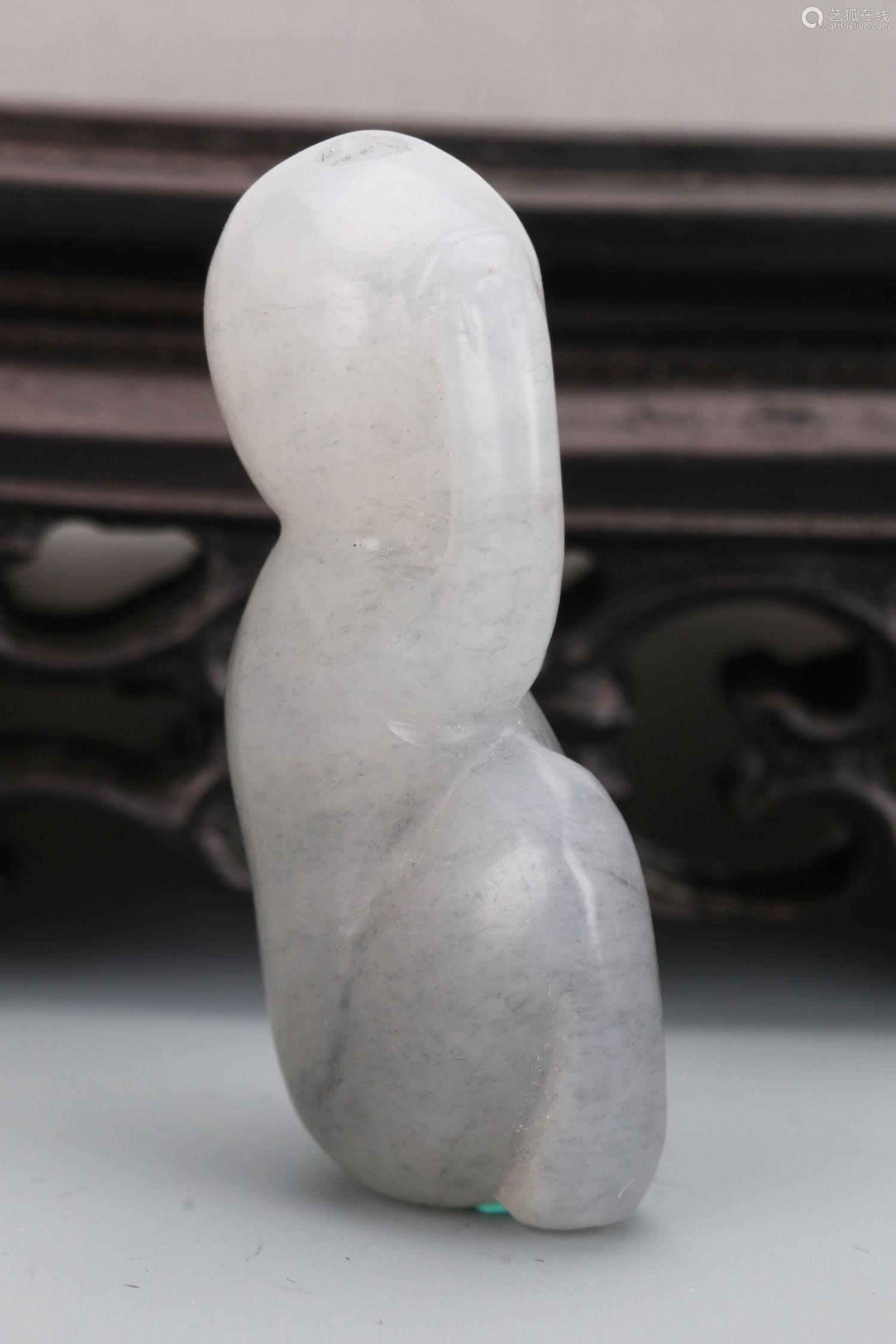 青花籽料灵猴