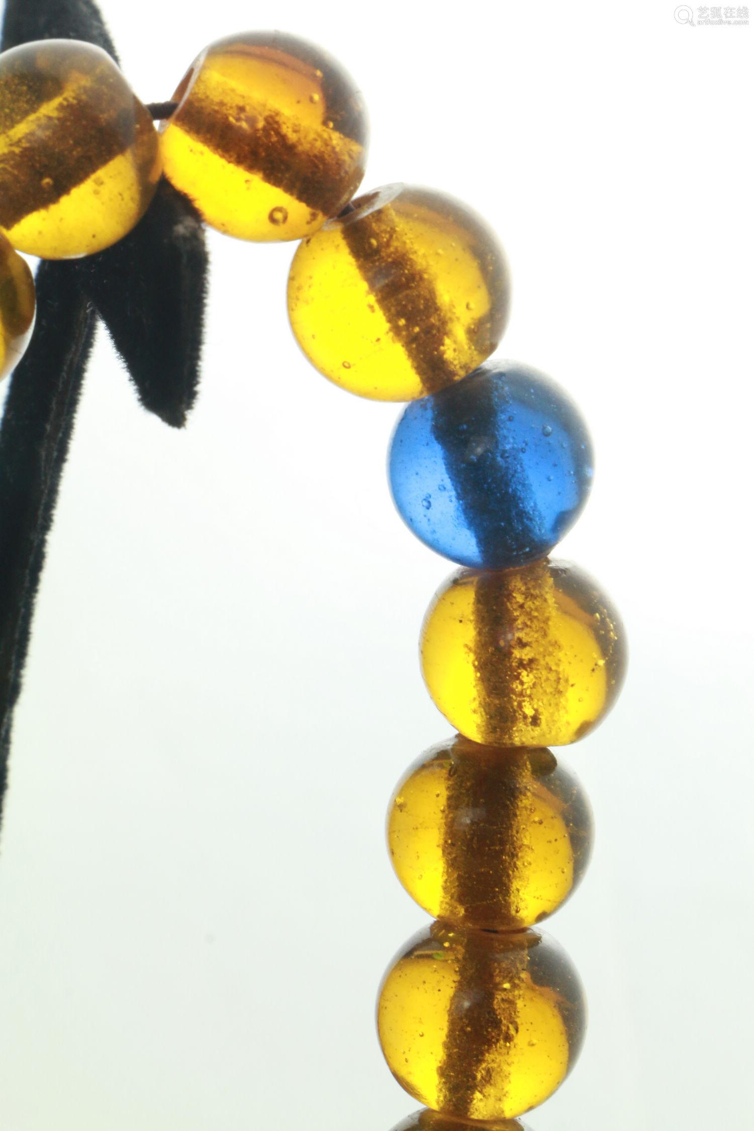 老琉璃十八子珠串