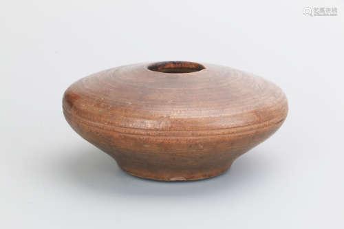 清 老木制小水盂