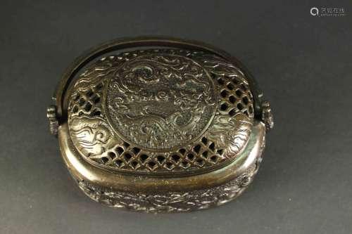 铜质提梁手炉