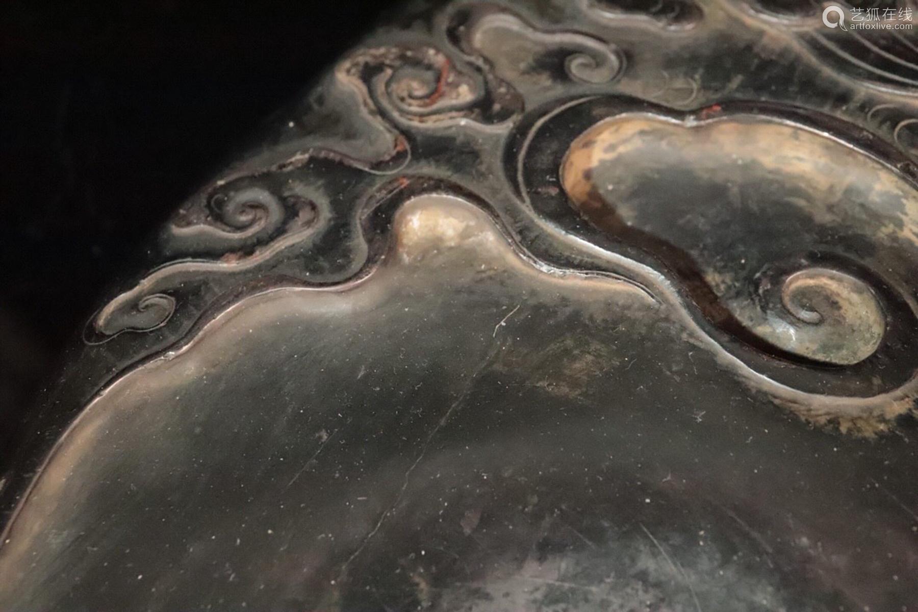 A DUAN STONE CARVED BEAST SHAPED INK SLAB