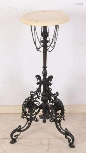 Antique German historicism cast iron side table with