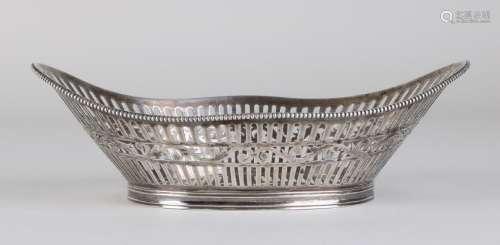 Silver bonbon dish, 833/000, oval cut-away model with
