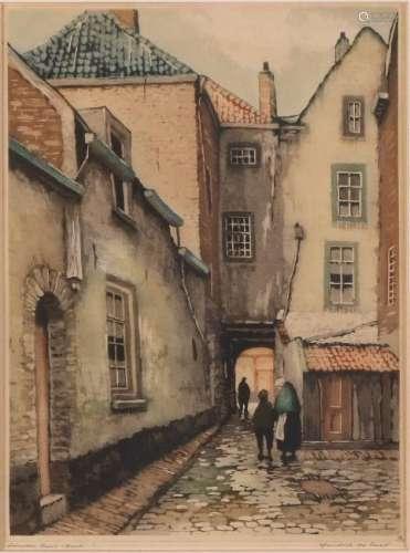 Hendrik de Laat. 1900 - 1980. Poort Den Bosch. Etching
