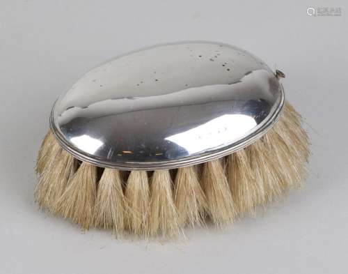 Antique silver clothing brush, 833/000, ovaaL model
