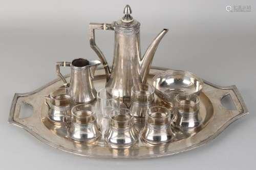Silver tableware, 800/000, Art Deco, crockery with