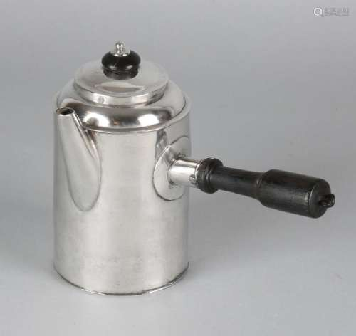 Silver jug, 800/000, cylindrical model with spout, lid