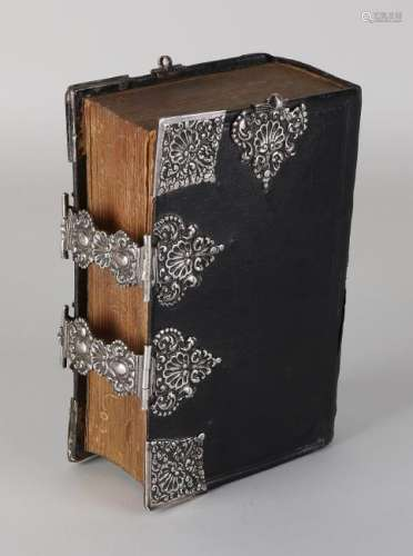Stephorster bible with silver corner pieces, double