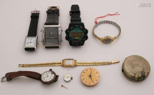 Lot with various watches and timepieces, including a