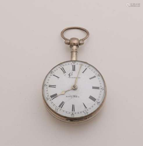 Silver pocket watch, so-called tuber, with snek.