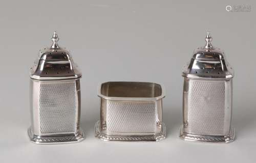 Silver spices set, 925/000, with two spreader and a