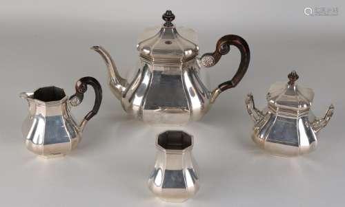 Silver tea set, 4 parts, 835/000, model Versailles,