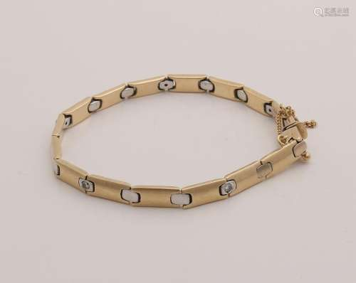 Beautiful yellow gold bracelet, 585/000, with small