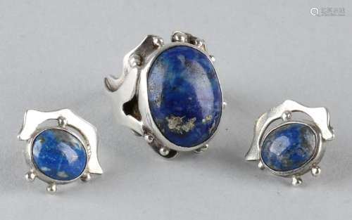 Special and exclusive silver jewelry set, 925/000. Van