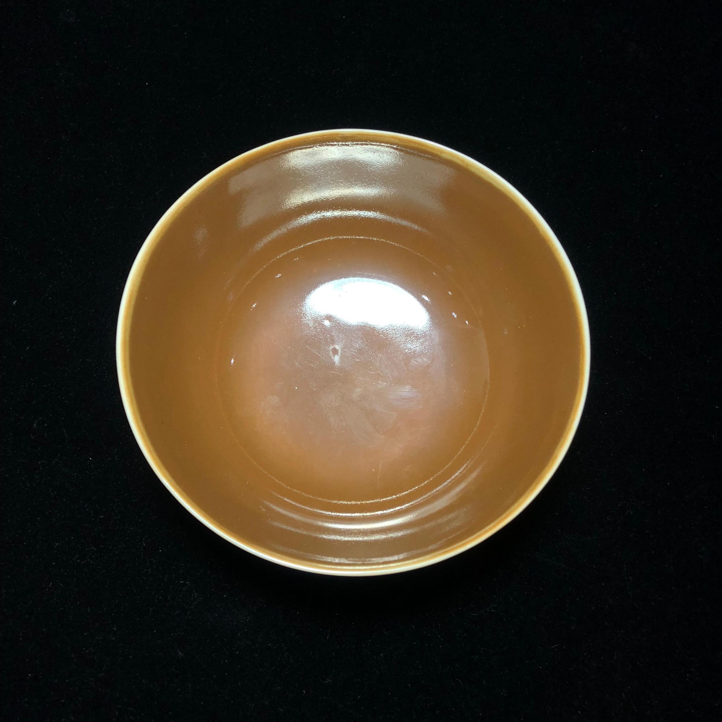 清光绪 紫金釉小碗