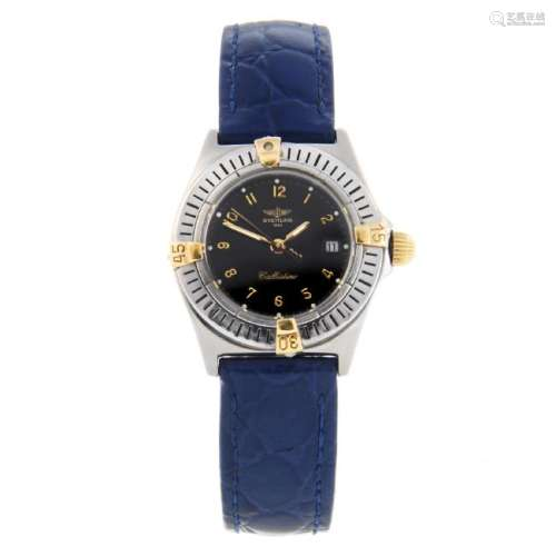 BREITLING - a lady's Callistino wrist watch. Stainless