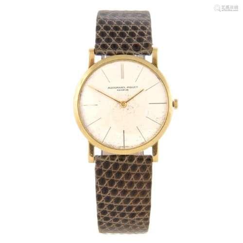 AUDEMARS PIGUET - a gentleman's wrist watch. Yellow