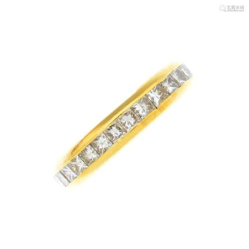 A diamond full eternity ring. Designed as a