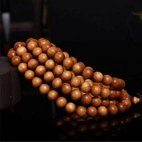 印度老山檀香手串檀香0.8cm108颗