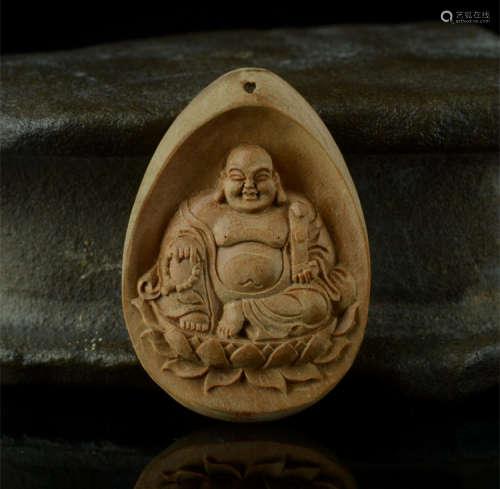 印度老山檀香挂件弥勒