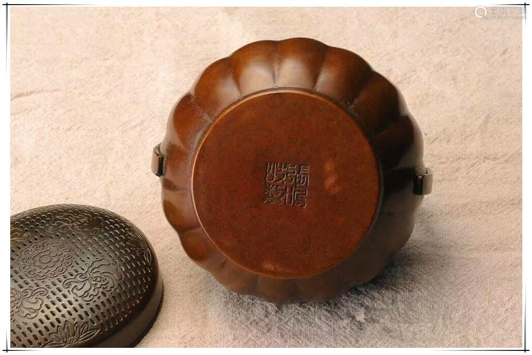 南瓜提炉铜炉香炉(配防火棉与沉香盘香)