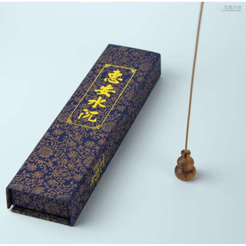 越南惠安水沉沉香线香50克装(配葫芦头香插)
