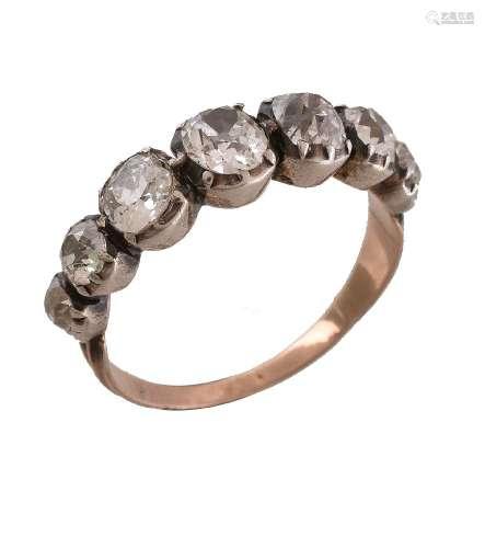 An early 19th century diamond ring
