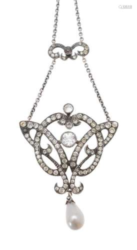 An early 20th century paste necklace