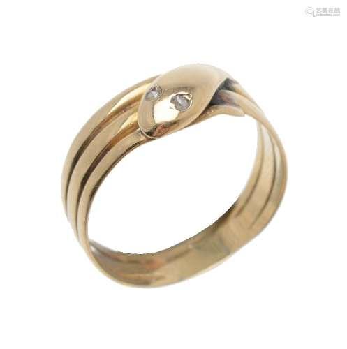 A Victorian 18 carat gold serpent ring