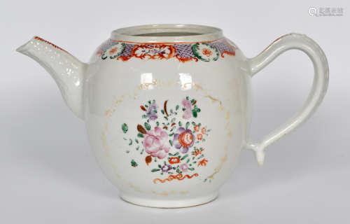 清 粉彩茶壶