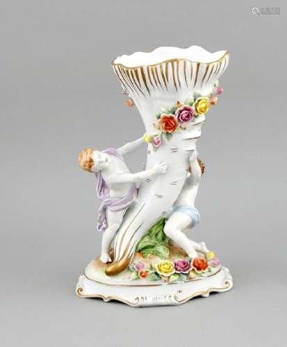 A figurative vase, Plaue, Thuringia, 20th cent.,
