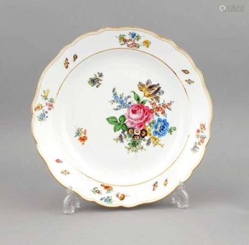 A large round bowl, Meissen, mark after 1934, 1st